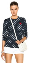 Comme des Garcons Cotton Red Emblem Dot Tee
