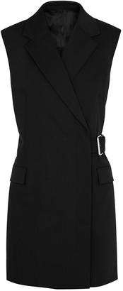 Helmut Lang Black belted wool-blend blazer dress