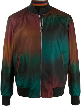 Paul Smith Ombre Print Bomber Jacket