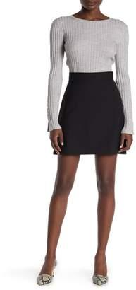Theory High Waist Mini Wool Skirt