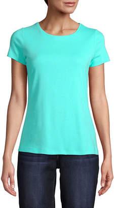 ST. JOHN'S BAY Womens Crew Neck Short Sleeve T-Shirt