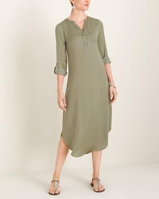 Chico's Woven Shirttail-Hem Dress