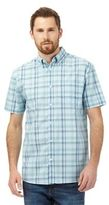 Maine New England Pale Green Checked Print Shirt