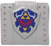 Bioworld Nintendo Legend of Zelda Hylian Shield Bi-Fold Wallet Coin Pouch, 17 cm, Grey