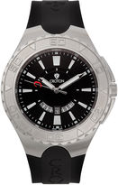 Croton Mens Black and White Stainless Steel Watch