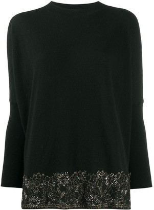 Blumarine Embroidered Fine-Knit Jumper