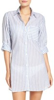 Tommy Bahama Women's Ticking Stripe Cover-Up Shirt