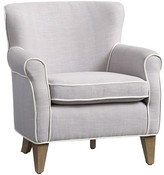 Pottery Barn Kids Charlie Mini Chair, Gray Linen Blend with White Piping