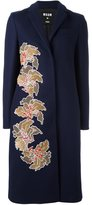 MSGM sequin flower midi coat