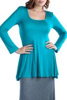 24/7 Comfort Apparel Long-Sleeve Crew-Neck Tunic