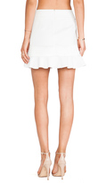 Robert Rodriguez Quorra Striped Embroidery Skirt