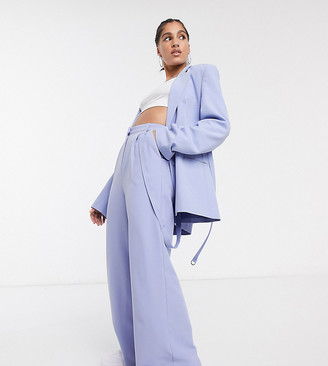 Collusion COLLUSION wide leg pants in pastel lilac