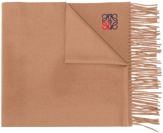 Loewe embroidered Anagram scarf