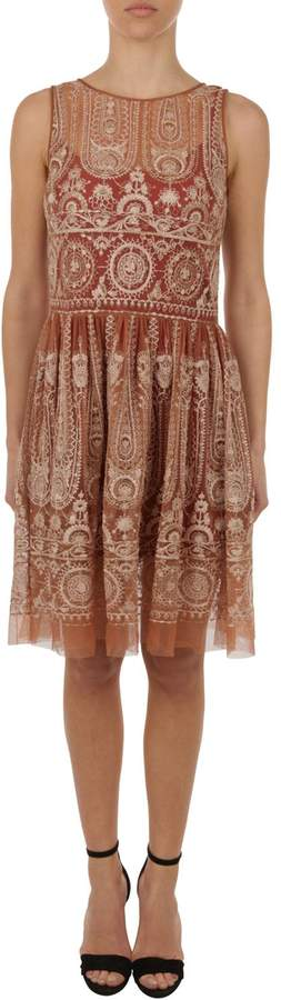 Blugirl Embroidered Tulle Dress