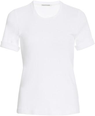 FRANCES DE LOURDES Sadie Crewneck Cotton T-Shirt