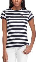 Chaps Women's Striped Anchor Tee
