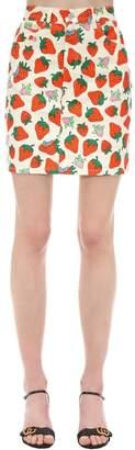 Gucci Printed Stretch Cotton Twill Mini Skirt