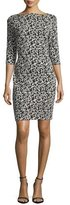 Joan Vass Audrey Floral Jacquard Sheath Dress