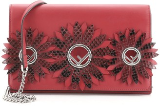 Fendi Kan I F Wallet On Chain Embellished Leather with Python