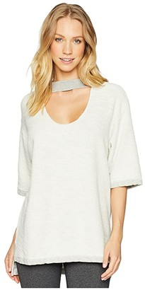 Hard Tail Double Scoop Slouchy Pullover (Heather) Women's Clothing