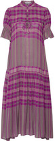 Apiece Apart Los Altos Printed Voile Midi Dress - Magenta
