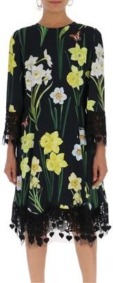 Dolce & Gabbana Floral Lace Detail Dress