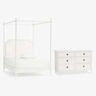 Pottery Barn Teen Colette Canopy Bed & 6-Drawer Dresser Set