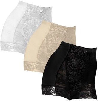 Shear Control Pinup Boyshort Lace Panties, 3 Pack