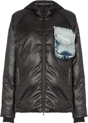 Natasha Zinko Beach-Trash Print Puffer Jacket