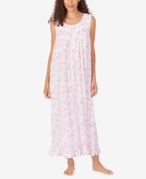 Eileen West Floral-Print Ballet Nightgown