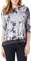 Phase Eight Fraya Floral Print Double Layer Top