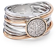 Bloomingdale's Marc & Marcella Pave Diamond Layered Ring in Sterling Silver & 14K Rose Gold-Plated Sterling Silver, 0.08 ct. t.w. - 100% Exclusive