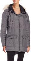 Columbia Faux Fur-Trimmed Omni-Heat Insulated Down Coat