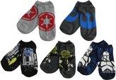 Disney Big Boys' Star Wars 5 Pack No Show Socks