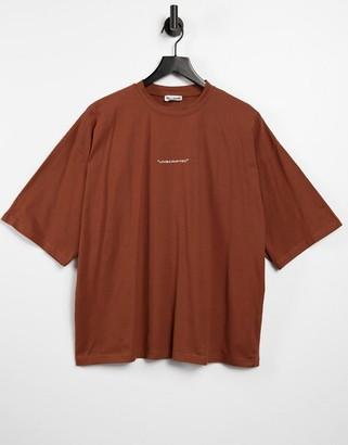 Public Desire motif t shirt in chocolate
