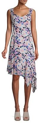 Nanette Nanette Lepore Floral Asymmetrical Dress
