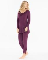 Soma Intimates Tunic Pajama Set Merlot