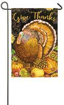 Evergreen Thanksgiving Turkey Indoor / Outdoor Garden Flag
