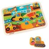 Janod Construction Worker Animals Chunky Puzzle