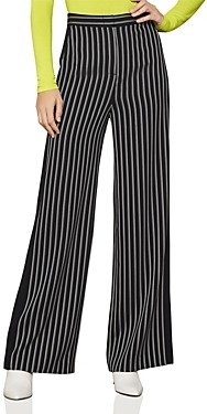 BCBGMAXAZRIA Striped Wide-Leg Pants