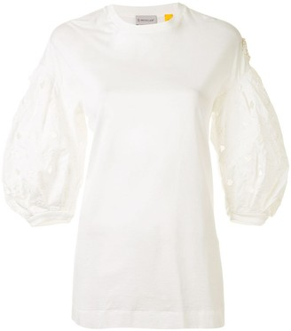 Moncler embroidered sleeve T-shirt