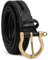 Dalgado Elastic Braided Leather Belt Black Alessandra