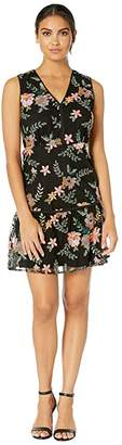 Sam Edelman Sleeveless Embroidery Mesh Dress