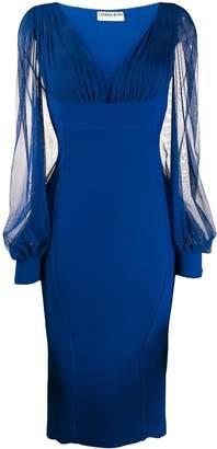 Chiara Boni Le Petite Robe Di sheer sleeve midi dress
