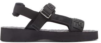 Fendi Ff-embossed Sandals - Black