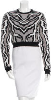 Torn By Ronny Kobo Zebra Patterned Crop Sweater