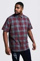 BoohooMAN Big & Tall Check Regular Fit Shirt