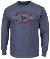 Profile Men's Houston Texans Print Logo Long Sleeve Big & Tall T-Shirt