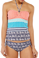 White Stuff Siesta Spot Stripe Bikini Bottoms, Shell Coral