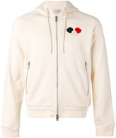 Moncler logo patch zipped hoodie - men - Cotton - M
